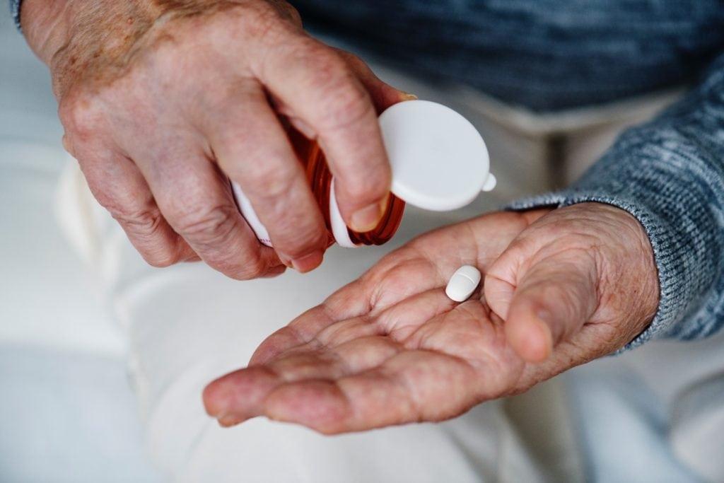 Pill hand drug