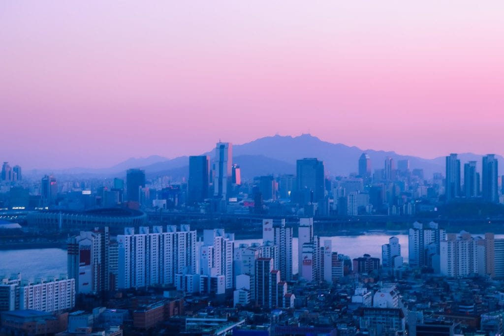 city skyline Korea
