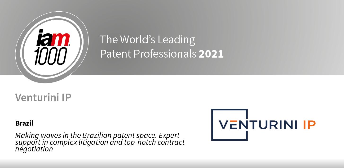IAM Patent 1000 2021 recognition